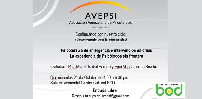 Psicoterapia De Emergencia E Intervención En Crisis. La Experiencia De Psicólogos Sin Frontera