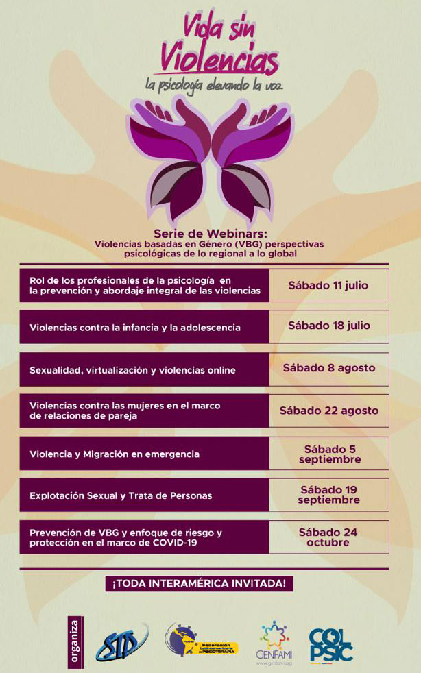 Serie De Webinars: Violencias Basadas En Género (VBG) Perspectivas Psicológicas De Lo Regional A Lo Global